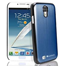 GreatShield TERRA Series Brushed Metal + PC Cover Case Skin for Samsung Galaxy S4 S IV GT-I9500 (Dark Blue / Black)