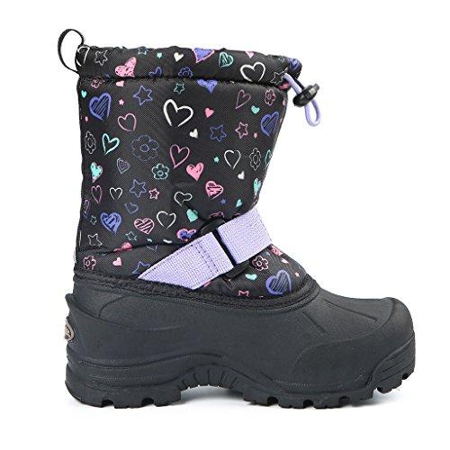 Large Product Image of Northside Frosty Winter Boot (Toddler/Little Kid/Big Kid),Black/Purple,Size 10 Medium US Toddler