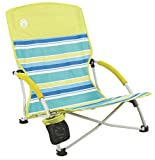 2-Coleman-Utopia-Breeze-Beach-Sling-Camping-Chairs-w-Cup-Holder-Carry-Bag
