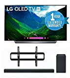 "LG OLED77C8PUA 77-Inch 4K Ultra HD Smart OLED TV (2018 Model) BUNDLE WITH SANUS VLT5-B1 51""-80"" Premium Series AND LG SK8Y 2.1 Audio Sound Bar with Dolby Atmos + 1 Year Extended Warranty"