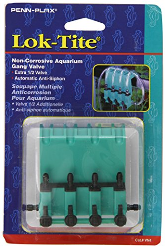 Penn Plax Lok-Tite Plastic Gang Valve Aquarium Pump Accessories ()