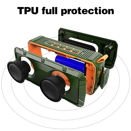 APIE Portable Wireless Outdoor Bluetooth Speaker IPX6 Waterproof Dual...