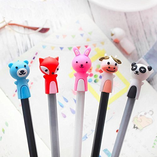 treasure-house 9 pz Baby Animal Pencil Toppers Pen Cap Masticabili massaggiagengive in silicone terapia Toys Chewy tubi Oral Motor Chew