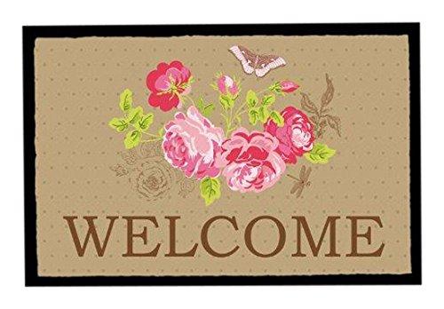 Achoka Welcome 123 Paillasson Polyester Imprimé 60 x 40 x 1 cm