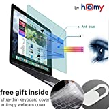 Homy Anti Blue Light Screen Protector Kit [2-Pack] for MacBook Pro 13 inch 2016-2017-2018-2019 + Keyboard Cover Ultra-Thin TPU + Web Camera Sliding Cover/Eye Protection Kit for A1706 A1989 Touch Bar