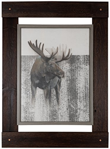 HobbitHoleCo 33.25-Inch by 46-Inch Fresco Crafted Art, Daniel St Amant, Moose by HobbitHoleCo