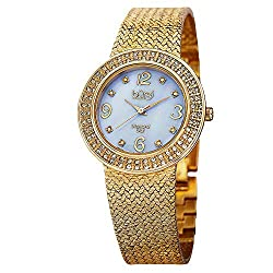 Women's Crystal Accented Swiss Watch