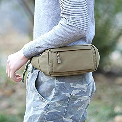 Blue Stones Men Waist Bag Oxford Tactical Military Fanny Pack Women Running Travel Belt Bag Portable Waist Pack Outdoor Bum Bag