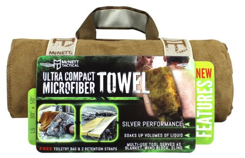 (McNett Tactical Ultra-Compact Microfiber Towel, Coyote, Extra Large)