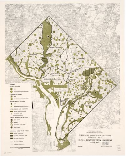1974 Map Comprehensive plan for the national capital, parks and recreation facilities diagram no. - And Vouchers Free Uk Cards Discounts Gift