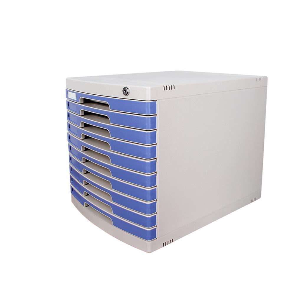 LCSHAN Desktop File Cabinet Ten-Layer Drawer Locker Simple Plastic Desk Stand by File Shelf