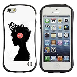 Be-Star Colorful Printed Design Anti-Shock Iface First Class Tpu Case Bumper Cover For Apple iPhone 5 / iPhone 5S ( music girl raven thought deep thinking ) Kimberly Kurzendoerfer