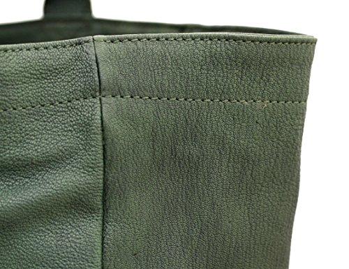 MON PARTENAIRE taglia M verde cuoio tote bag in stile vintage PAUL MARIUS