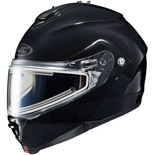 HJC IS-Max 2 Element Modular Snowmobile Helmet with Electric Shield, Solid Black (X-Large)