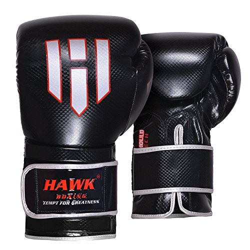 Hawk Boxing Leather Boxing Gloves Gel Training Gloves Bag Gloves Muay thai UFC Gloves, 1 YEAR WARRANTY!!!!