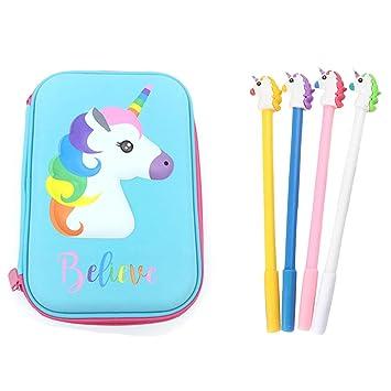 Unicorn 3089 - Estuche rígido para lápices (4 unidades ...