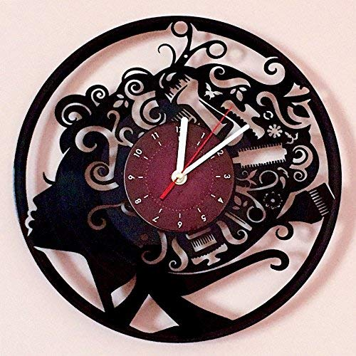 My STORE For YOU HAIRSTYLE BEAUTY SALON - Vinyl Record Wall Clock - Room wall decor - Gift ideas for children, baby, brother and sister, him and her