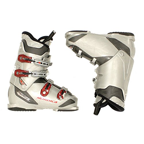 Used Nordica Cruise NFS 70 Mens Ski Boots Gray Red 4 Buckle - 26.5