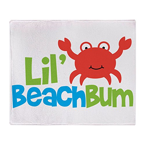 CafePress - Boy Crab Lil' Beach Bum - Soft Fleece Throw Blanket, 50