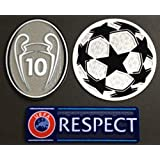 Uefa Champion League Respect and Trophy 10 Badge Patch Iron on Soccer Jersey for Real Madrid by Super Sport