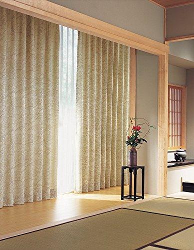 東リ 伸びやかな植物を配したカーテン カーテン2倍ヒダ KSA60173 幅:200cm ×丈:230cm (2枚組)オーダーカーテン   B078C7BJRP