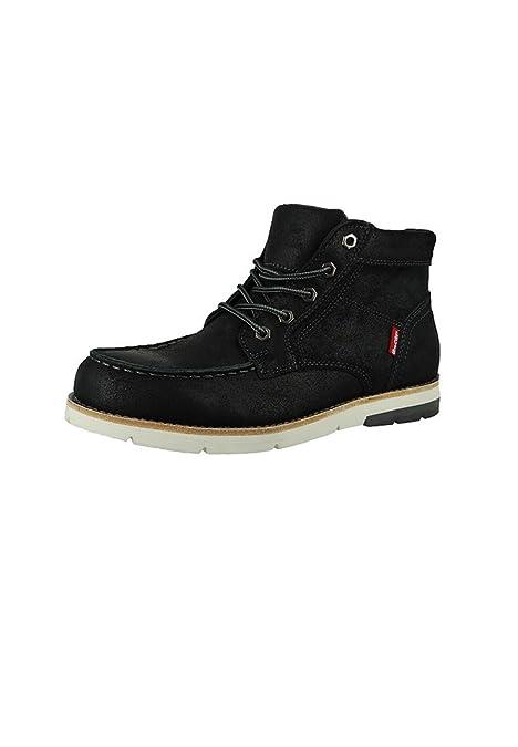 Levis - Botas de Piel para Hombre Negro Regular Black, Color Negro, Talla 39