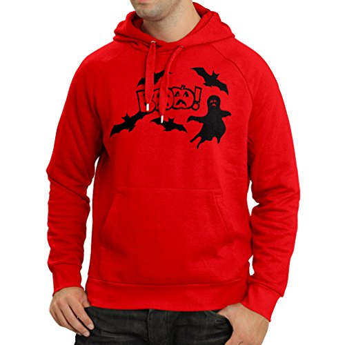 (Hoodie BAAA! - Funny Halloween Costume Ideas, Cool Party Outfits (Large Red Multi)