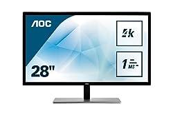 "AOC U2879VF 28""Class LED 4K Monitor 3840x2160, 300cd/m2, 10Bit Color, FreeSync, VGA, DVI, HDMI, DP (Renewed)"