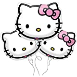 "Hello Kitty Face Foil Balloons 13""x15"" (Pack of 3)"