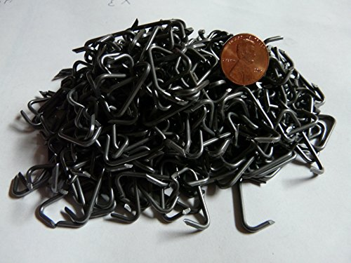450ct 3/4'' Auto seat cover upholstery fasteners, plain steel hog rings 15 gauge - 3/4LB by Eden Farms