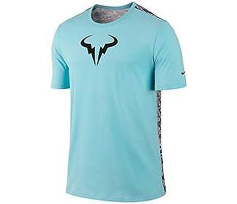 Rafael Nadal niké 2015 ATP Master tenis Rafa henselite Desafiador hombres camiseta, Copa azul,