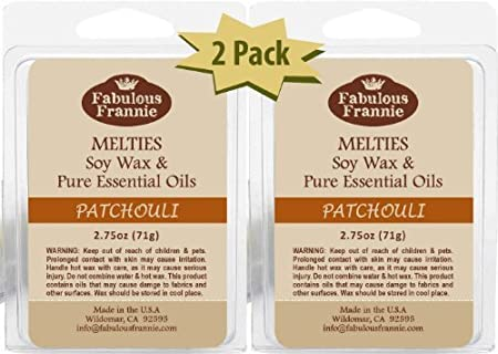 PATCHOULI 2.75oz Pure /& Natural Soy Candle Meltie//Tart//Melts by Fabulous Frannie