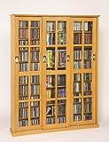 Leslie Dame 61'' Triple CD DVD Wall Media Cabinet in Oak