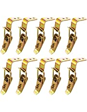 10 stuks metalen spansluitingen, verstelbare sluiting, hasp, spansluiting met haak, kniehendelspanner, roestvrijstalen sluiting, hasp, kistsluiting, klapsluiting voor gereedschapskist, lade, kast