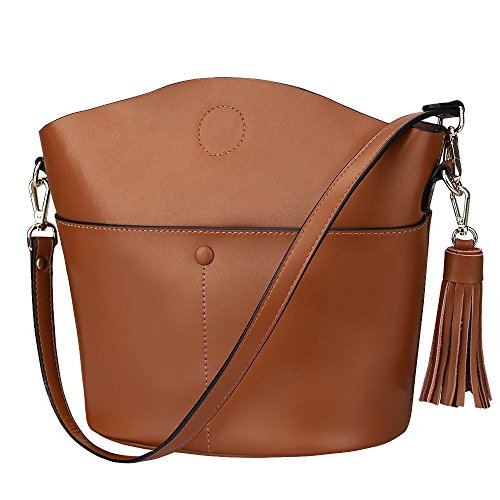 S-ZONE Women Cowhide Genuine Leather Small Crossbody Bag Shoulder Purse Handbag