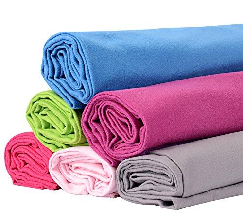 BOOMYOURS Schnell trocknendes Mikrofaser-Handtuch für Reise, Sport, Turnhalle, Yoga, Schwimmen, Strand (Groß/Leicht/Extra saugfähig/Kompakt/Weiche Mikrofaser) enthält einen FREI sportlichen Kordelzugbeutel