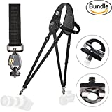 BlackRapid Breathe Hybrid Camera Strap #361009 - with Extra (2) ZONOZ SMS-5 Neck Strap Mount Screw FastenRz (Bundle)