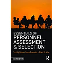 Essentials of Personnel Assessment and Selection
