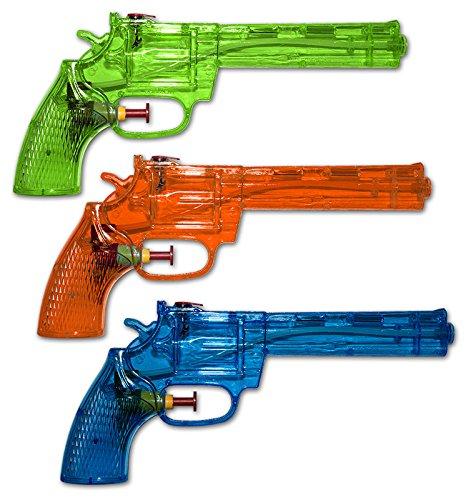 3 x Wasserpistolen Wasserpistole Revolver 21 cm Spritzpistolen Wasserspritze Diverse