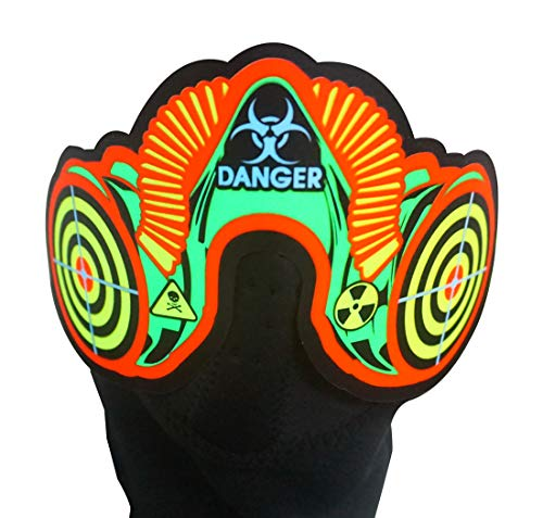 Party Music Mask, Sound Reactive LED Mask Sound Activated for Festival Party (Danger) ()