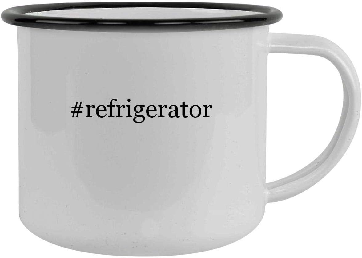 #refrigerator - 12oz Hashtag Camping Mug Stainless Steel, Black