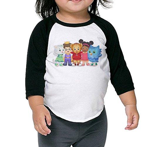 Price comparison product image Daniel Tiger's Neighborhood Raglan T Shirt Toddler Cotton 3 / 4 Sleeve Kids Cute