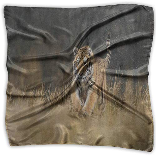 Square Scarf African Tiger Forest Grass Neck Head Unisex Scarves Tie For - Ap Valance