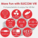 ELECOM-Japan Brand- VR Headset with Controller Remote Bluetooth/Compatible with 4.0-6.5inch Smartphone iPhone Samsung Galaxy Black P-VRGBT01BK