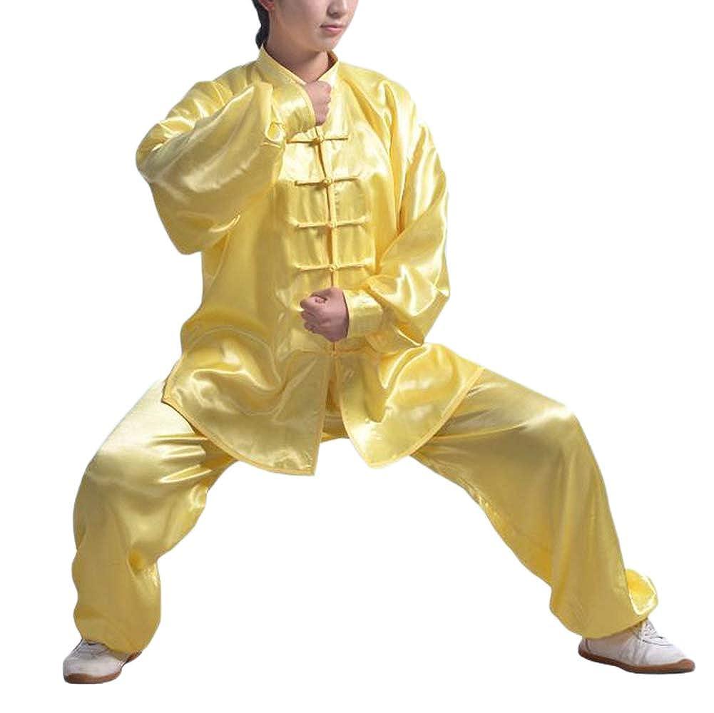 Unisex Seda del Imitació n Sur Uniforme de Kung Fu Trajes Conjunto para Tai Chi Qi Gong