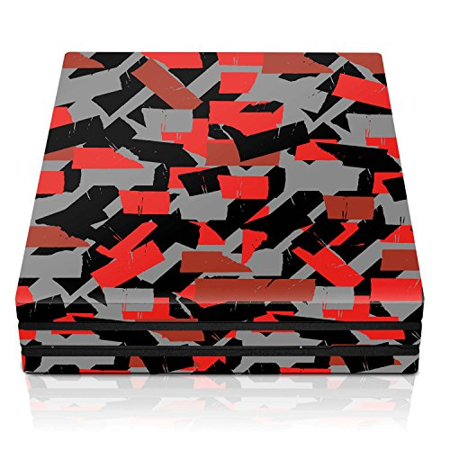 Controller Gear PS4 Pro Console Skin – Ox Blood Torn Tape Horizontal – PlayStation 4