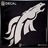 Denver Broncos Large Silver Metallic Vinyl Auto Decal NFL Football