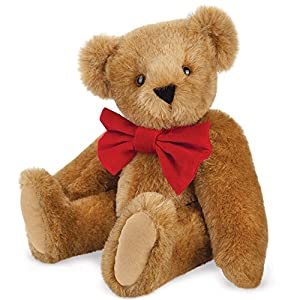 Vermont Teddy Bear - Classic Bear with Big Red Bowtie, 15 inches, Brown - Made in the USA - 51AoiSC4BPL - 15″ Classic Bowtie Teddy Bear