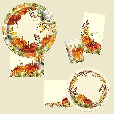 Unique Watercolor Fall Pumpkins Lunch Napkins 6.5