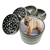 Dog Shar Pei Titanium 4 PC Magnetic Grinder 2.1